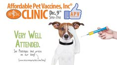 On Tuesday, December 9th, 2014 from 5pm -7pm, we'll be hosting our monthly Affordable Pet Vaccines, Inc® Clinic here at the store at 100 W Main St Mount Joy, PA! Come on out for some excellent deals on dog and cat vaccination packages.