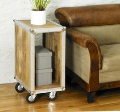 Roadie Chic Open Bedside / lamp Table  industrial Chic  from www.uniquechicfruniture.co.uk