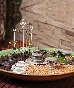 Enhance Your Indoor Or Outdoor Fairy Garden With This 3 Pc. Garden Party Set.  With A Pergola, A Loveseat And A Fire Pit, Itu0027s An Inviting Place Foru2026