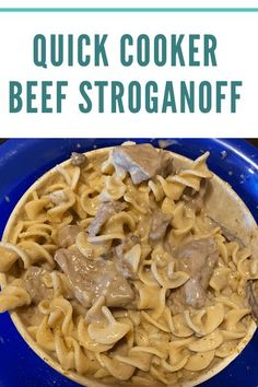 This Quick Cooker Beef Stroganoff will be a meal everyone will fight over. It's a wonderful comfort food meal that you can make in less than an hour. #recipes #sharinglifesmoments #quickeasymeals Healthy Recipes On A Budget, Healthy Dinner Recipes, Real Food Recipes, Easy Food To Make, Quick Easy Meals, Beef Stroganoff, Family Meals, Cooker, Beef Stew Meat
