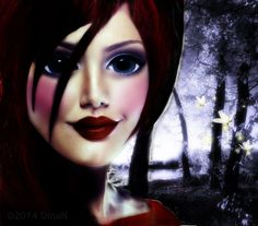 7-20-14 Red Head Wood Fairy wm by cocoaberi on deviantART