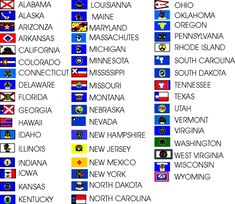 The 50 States In Alphabetical Order New Flags Usa All 50 States Made Usa Free Shipping Flags States Jpg States In Usa State Flags States And Capitals