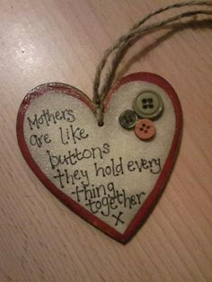mothers....would be cute with holly and a bow for an ornament (or just like it is)!