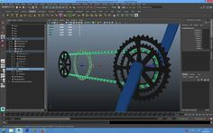 Maya 3d bike and motorcycle dynamic chain rig and animation part 1