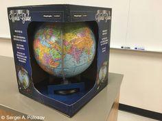 September 1 -- International Knowledge Day. I purchased a new Globe for my classes. 1 сентября -- День Знаний. Я купил новый глобус для своих классов.