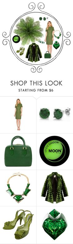 """Fern Green"" by jeanstapley ❤ liked on Polyvore featuring Tahari by Arthur S. Levine, BERRICLE, Amrita Singh, Maison Rabih Kayrouz, Moschino and Thierry Mugler"