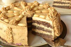 przepis na tort makowo - kawowy