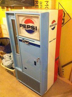 ON EBAY $2400.00 ASKING PRICE 1956 Pepsi Machine/vendorlator/56/Vendo/Pepsi Cola/vendorlator 56/Vintage/Antique