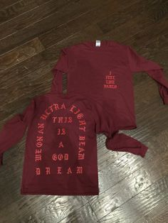 I Feel like Pablo The Real Life of Pablo Yeezy MSG Kanye West Red Long sleeve T shirt
