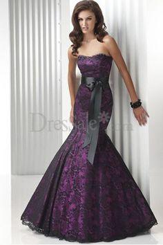 Purple wedding dress with mermaid skirt  $166