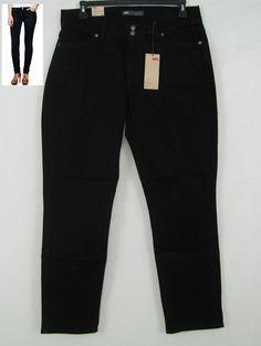 Levi's 529 Curvy Fit Skinny Leg Women's Black Jeans Size 16 NEW #Levis #CurvyskinnyLeg 29.99