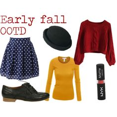 """""""My early fall OOTD"""" by jaleesi on Polyvore Only exception are the flats. Mine are exactly the same but with high heels"""