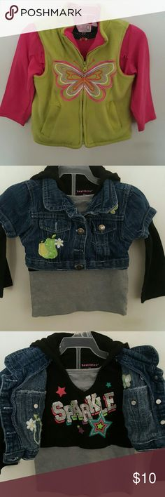 Baby girl clothes 7 pieces of baby girl clothes Size 24months Pre-owned  Good condition Price is for all 7 pieces Brands:babyq,carters,healthtex,,young hearts,precious moments,and garanimals Shirts & Tops