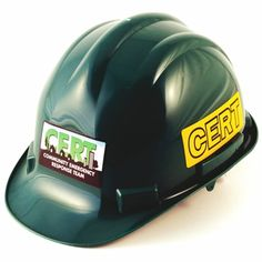 95e1b618390 Deluxe CERT Hard Hat - Hi-Vis Reflective Stickers