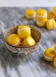 Triple Lemon Macarons | The Blonde Buckeye
