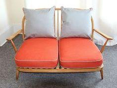 Retro Ercol 2 Seater Sofa 1970 1960's New Upholstery | eBay