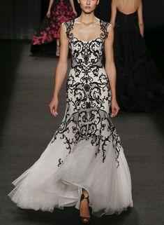 Black & White Gown | Yin & Yang of Fashion | Monique Lhuillier Fall 2014 | #YinYang #Fashion