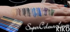 KIKO Super Colour Eyeliner Review & Swatch-Bombe http://www.magi-mania.de/kiko-super-colour-eyeliner-review-swatch-bombe/
