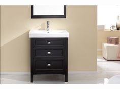 Torun 700mm Vanity Solid Timber Black