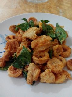 Deep Fried Sotong with Salted Egg