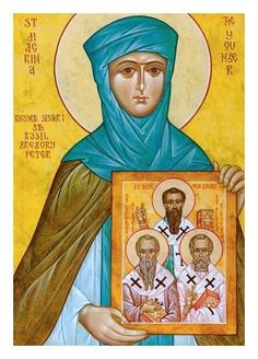 St. Macrina - sister to Basil the Great - for felt icon