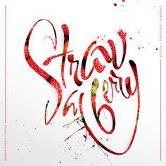 #Lettering #Handmadeletter #Strawberry #PragmaEstudioCreativo
