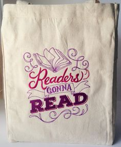 Personalized Library Book Bag/Tote Shopping by SusansCreations4U
