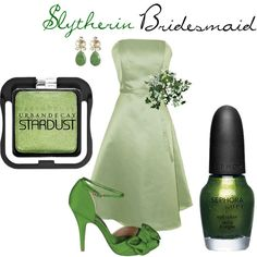 """Slytherin Bridesmaid"" by nearlysamantha on Polyvore"