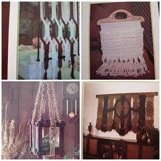 Macrame Patterns/ Juliano's Hang It All Macrame/ cradle, wall divider, hand bag, wall decor, terrarium hanger, curtains, plant hangers