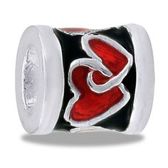 DaVinci Beads Red Black Heart Jewelry