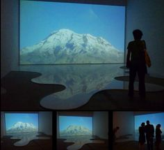 Olimpo / Video Projection, loop 2 minutes  and milk  / Variable dimensions / Venice Biennale  / 2009