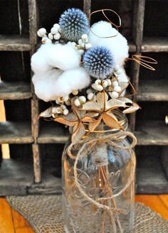 2. Tallow-Berry Branches: Bring rustic glamour to your wedding with the addition of tallow berry branches.
