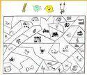 Coloriage magique avec les Alphas Voyelles Alphabet, Cycle 1, Grande Section, Montessori, School, Reading Activities, Classroom Games, Alpha Bet