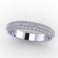 Platin 110 ct Diamant Ewigkeit Ehering von fabiandiamonds auf Etsy