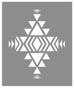 shows the layout of the stencil sheet of the Small Navajo Firecreek Stencil.Above - shows the layout of the stencil sheet of the Small Navajo Firecreek Stencil. Native American Patterns, Native American Symbols, Native American Design, Native Design, Motif Navajo, Navajo Art, Navajo Pattern, Navajo Style, Stencil Patterns