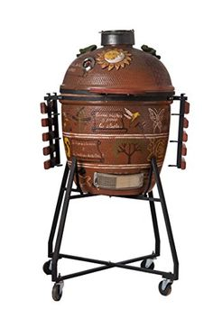 Large Unique 22 Hand Crafted Kratos Kamado BBQ Grill  Smoker * Click image for more details.(This is an Amazon affiliate link)