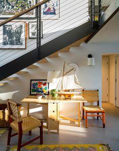 idée de design de coin sous l'escalier