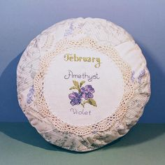 10 Round Cross Stitch & Crochet Doily Pillow/Cushion