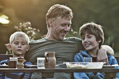 Mikael Persbrandt, Toke Lars Bjarke and Markus Rygaard in In a Better World