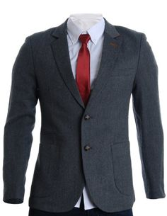 Flatseven homme designer slim fit twill blazer veste gray (b Classy Casual, Casual Chic Style, Men Casual, Only Fashion, Fashion Brand, Mens Fashion, Celebrity Fashion Outfits, Slim Fit, Mens Clothing Styles