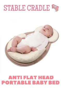 Baby Pillow Sleep Cushion Newborn Nest Bed Mattress Prevent Flat Head Detachable