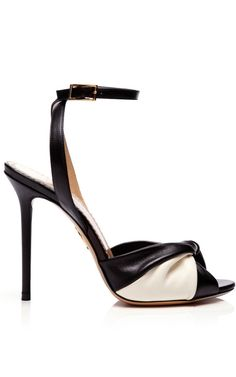 Shop Do The Twist Leather Sandals by Charlotte Olympia Now Available on Moda Operandi