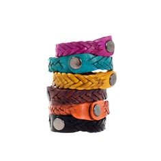 Colorful Moroccan Braided Leather Bracelets - Beldi