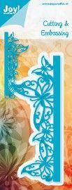 6002/0251 Blauw Rand vlinder
