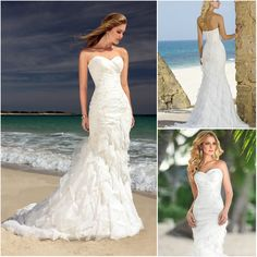 Free Shipping BW003 Strapless Sweetheart Ruffled Organza Backless Mermaid Beach Casual White Wedding Dress  $179.00 http://www.aliexpress.com/store/product/Free-Shipping-BW003-Strapless-Sweetheart-Ruffled-Organza-Backless-Mermaid-Beach-Casual-White-Wedding-Dress/219257_803715071.html