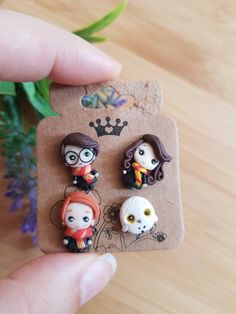 37 Ideas Memes Harry Potter Ron Weasley For 2019 Harry Potter Ron Weasley, Harry Potter Jewelry, Harry Potter Diy, Harry Potter Memes, Fimo Kawaii, Polymer Clay Kawaii, Polymer Clay Charms, Polymer Clay Disney, Clay Projects