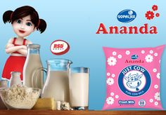 #Gopaljee Ananda Cow #Milk #Ananda brand has been helping mothers across India for the past 23 years providing nutrition and taste. Gopaljee Ananda #Cow_Milk is the most hygienic liquid milk available in the market.