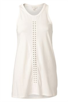 Keeping it sleek and simple: Eyelet Tank from @WITCHERY Fashion #witcherywishlist