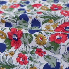 Poppy and Honesty - Liberty Art Fabric