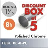 TUBE100-8-PC-Box 5 - Buy by the box and save! Box of 5 , 8ft Polished Chrome, 1-1/16 $120.00